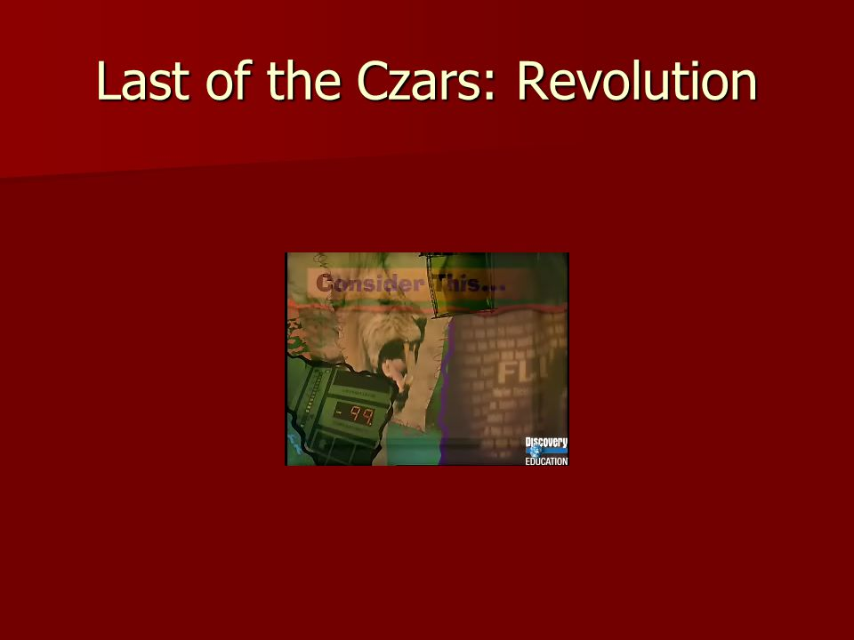 Last of the Czars: Revolution