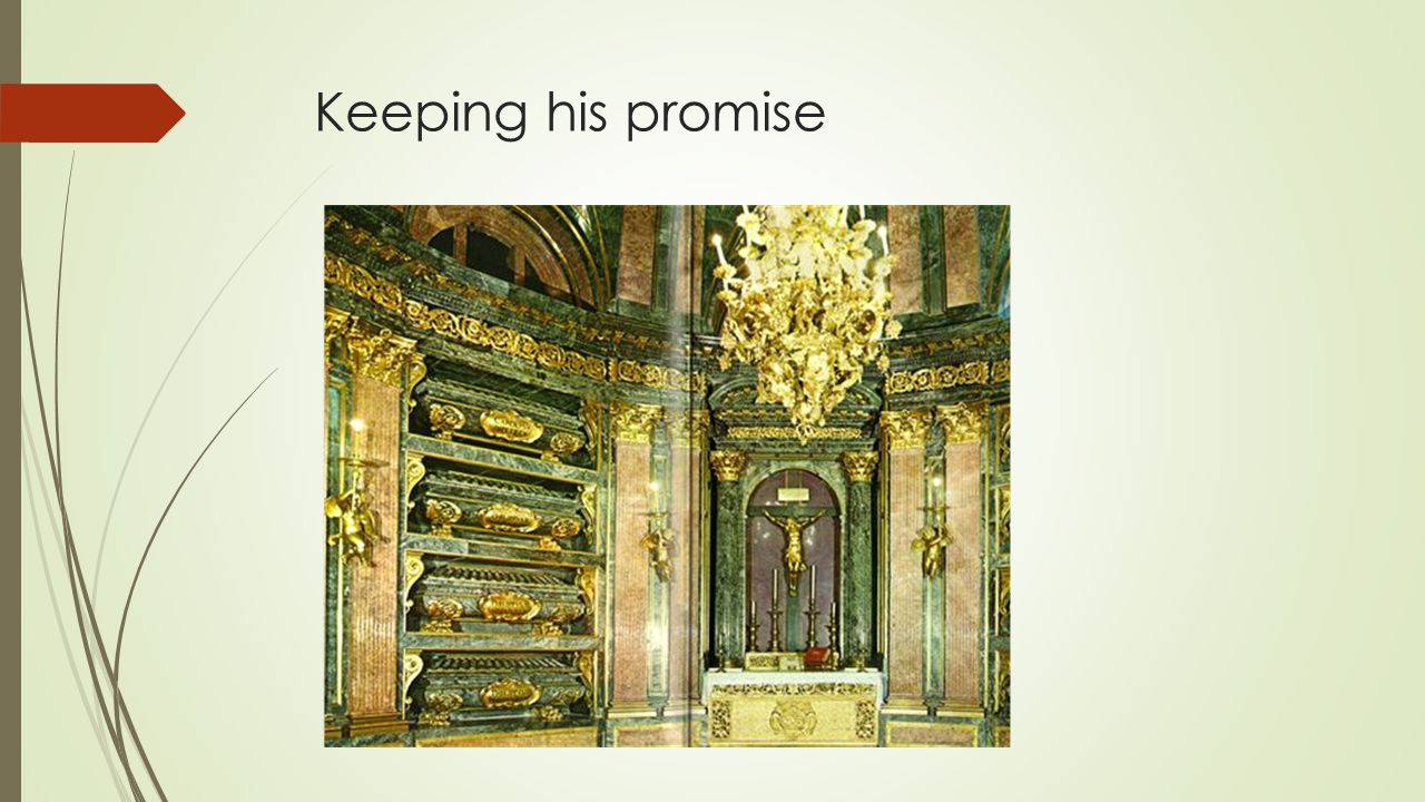 Keeping his promise