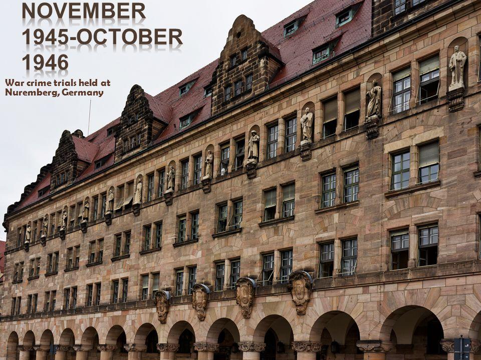 War crime trials held at Nuremberg, Germany