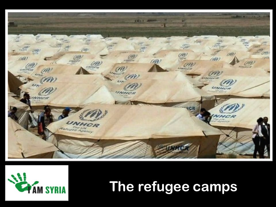 The refugee camps