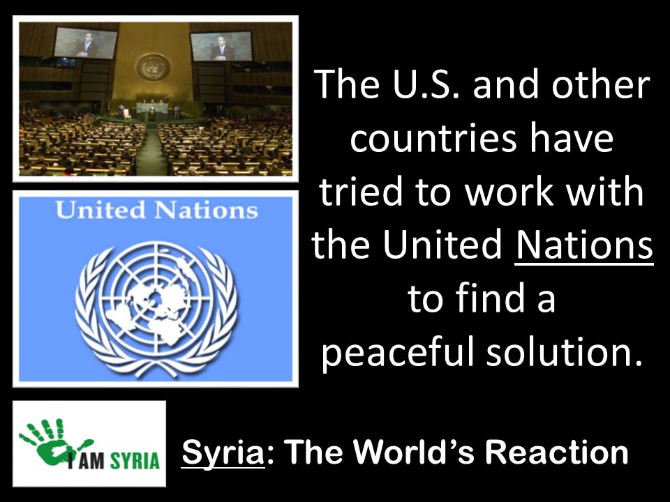 Syria: The World's Reaction The U.S.