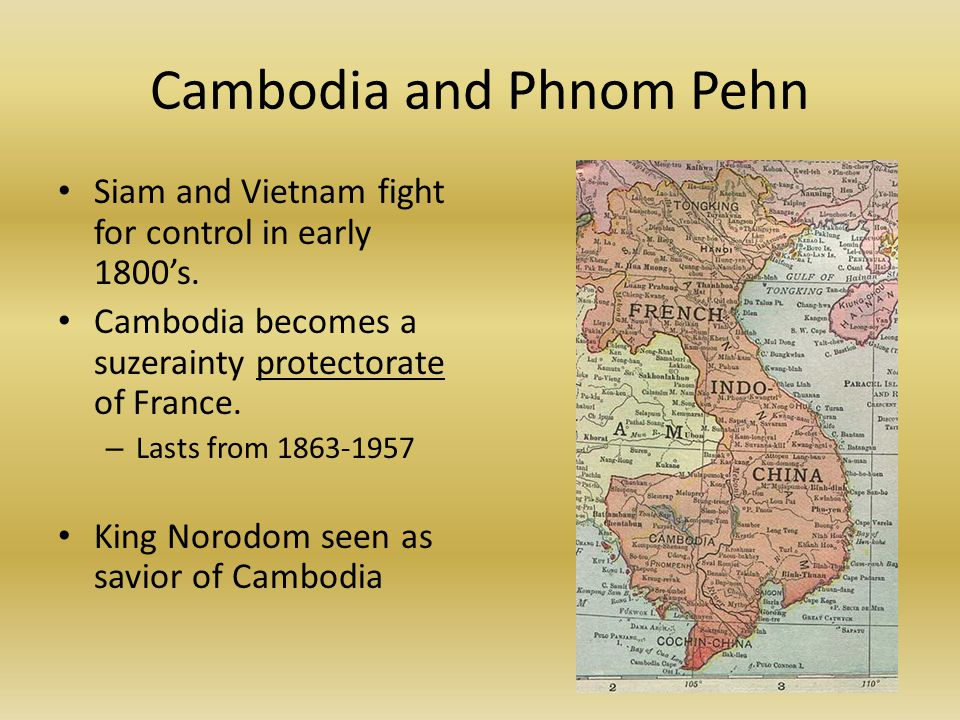 Cambodia and Phnom Pehn Siam and Vietnam fight for control in early 1800's.