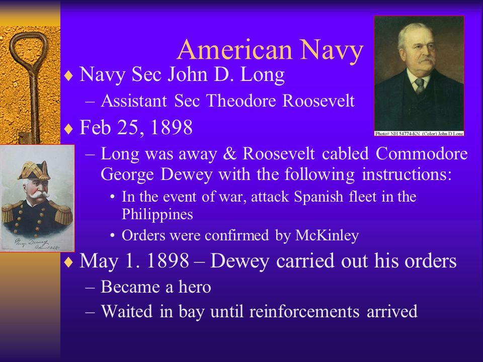 American Navy  Navy Sec John D.