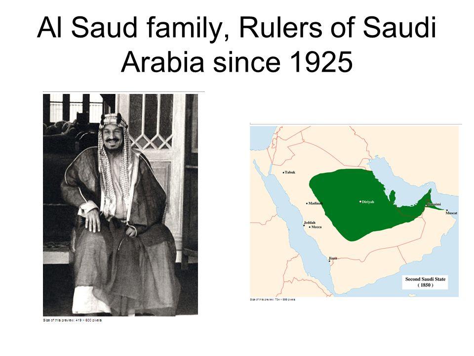 Al Saud family, Rulers of Saudi Arabia since 1925