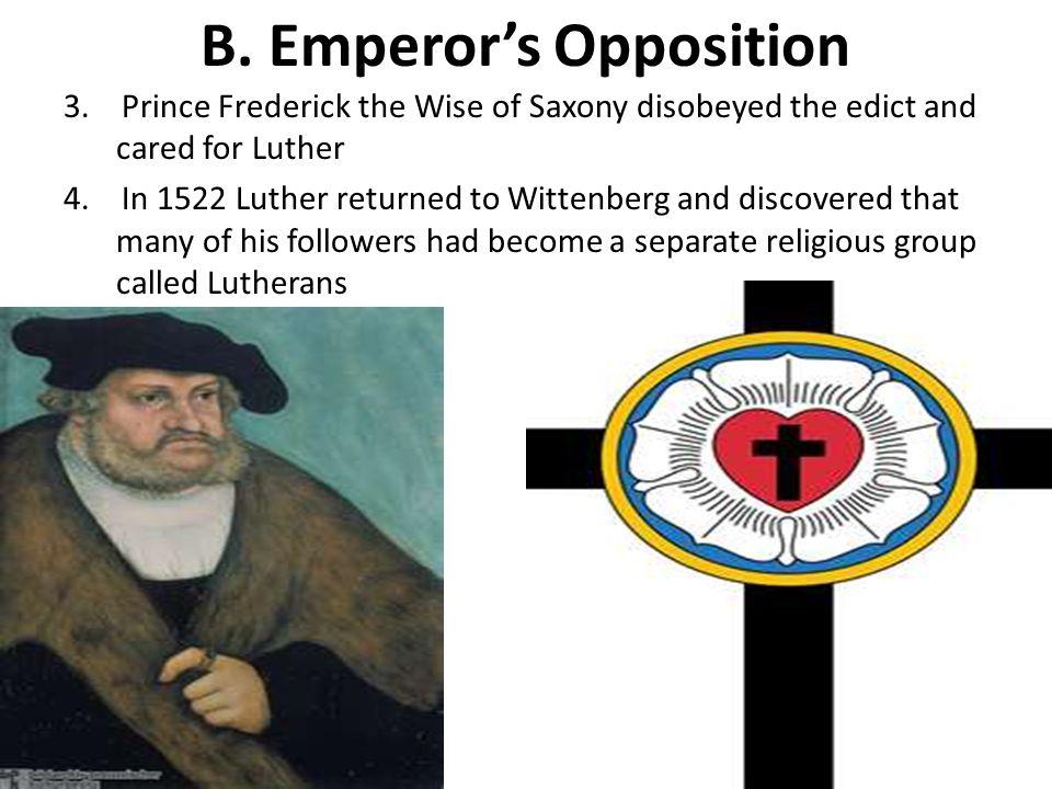 B.Emperor's Opposition 3.