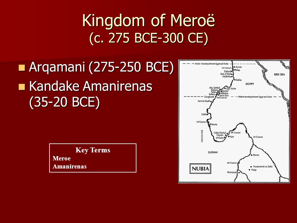 Kingdom of Meroë (c.