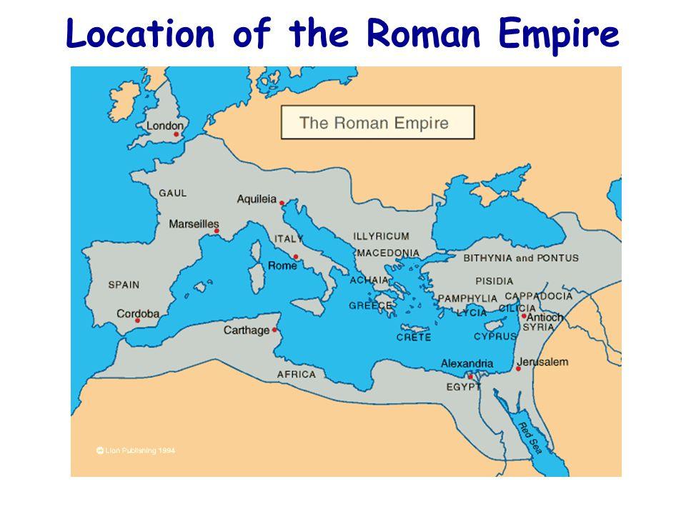 Location of the Roman Empire