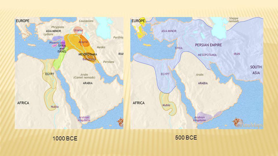 1000 BCE 500 BCE