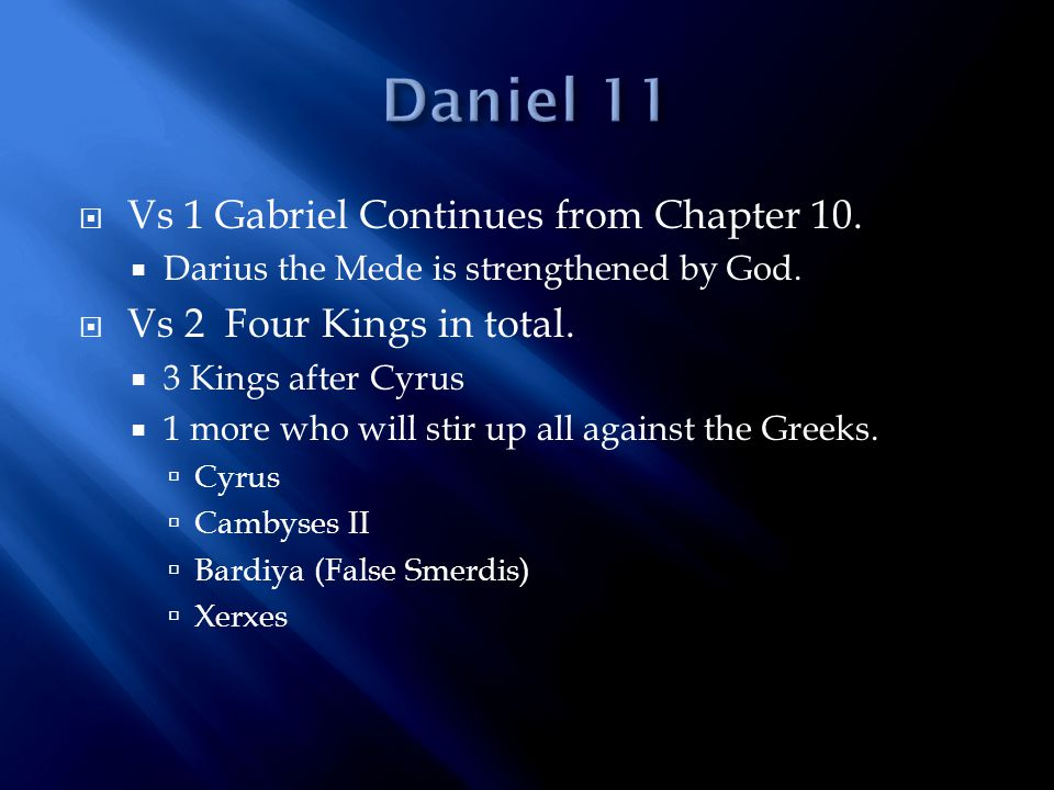  Vs 9 Also the king of the North shall come to the kingdom of the king of the South, but shall return to his own land.