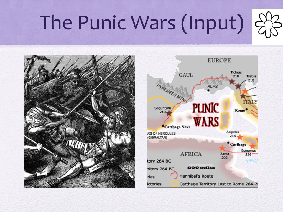 The Punic Wars (Input) Rome's military strength was tested in a series of wars with Carthage Carthage was a city found by Phoenician sea traders in North Africa The Romans called this conflict the Punic Wars Punic came from Poeni, the Latin word for Phoenician