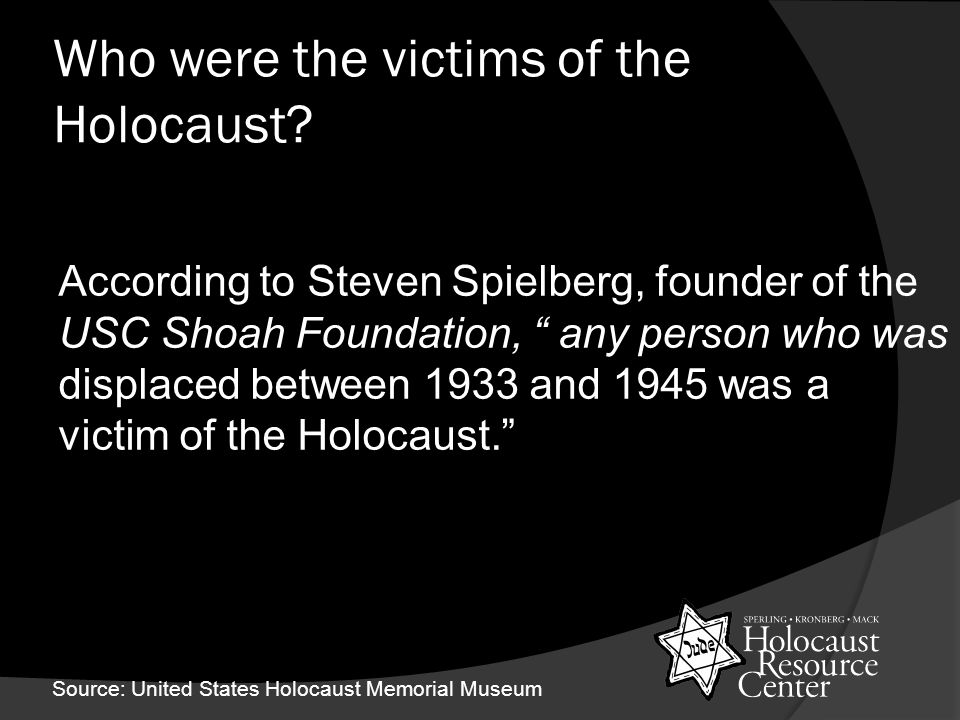 Who were the victims of the Holocaust.