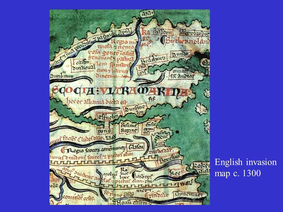 English invasion map c. 1300