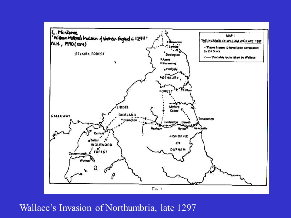 Wallace's Invasion of Northumbria, late 1297