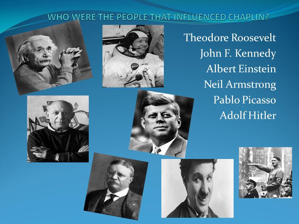 Theodore Roosevelt John F. Kennedy Albert Einstein Neil Armstrong Pablo Picasso Adolf Hitler