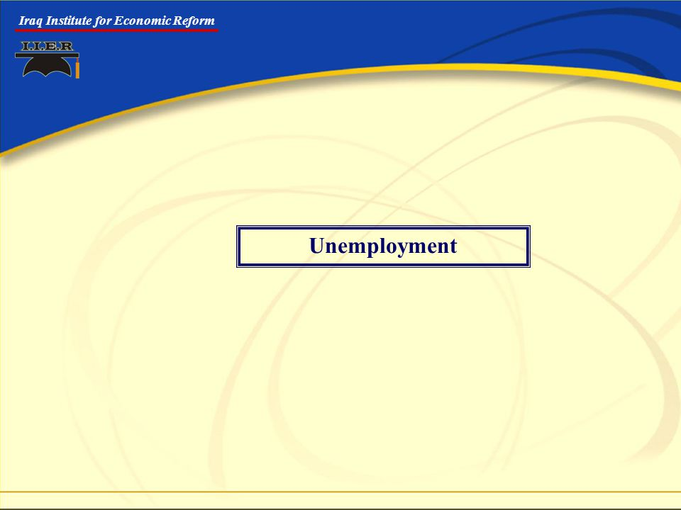 Iraq Institute for Economic Reform Unemployment