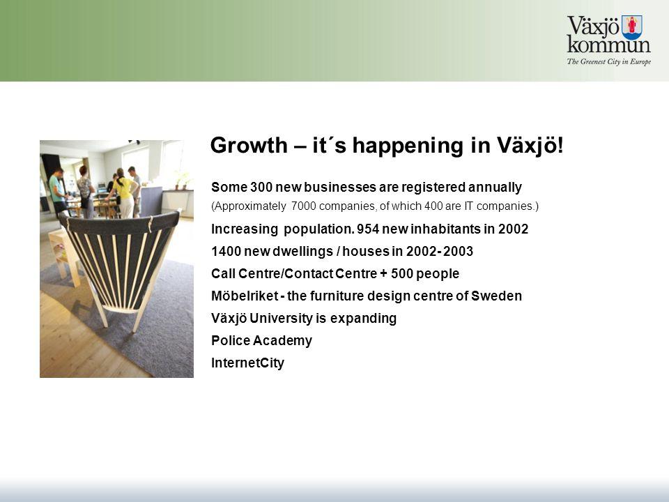 Growth – it´s happening in Växjö. Increasing population.