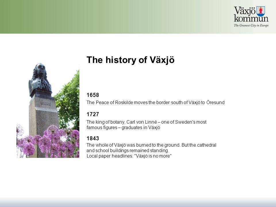The modern history of Växjö In the early 1900s, Växjö began to grow and expand.