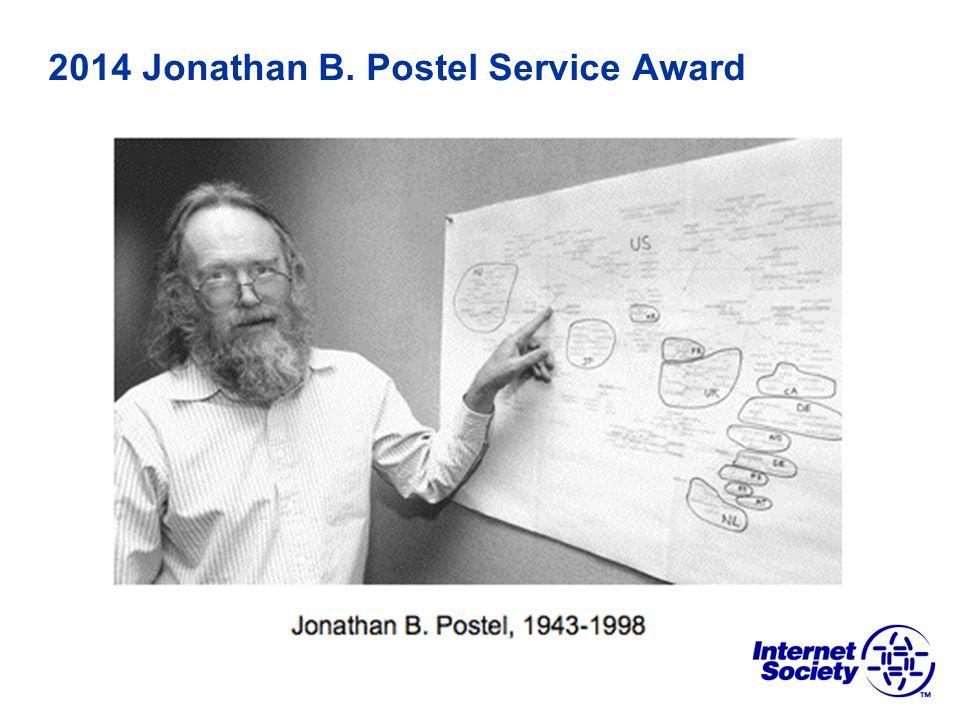 2014 Jonathan B. Postel Service Award