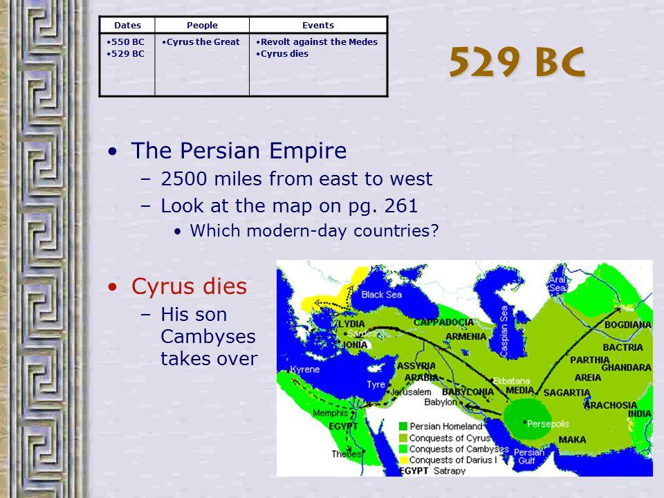 525 BC Cambyses conquers Egypt –Herodotus Histories, 3.30-2, p.