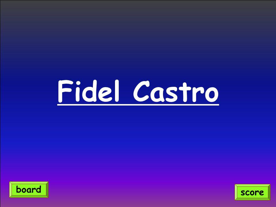 Fidel Castro score board