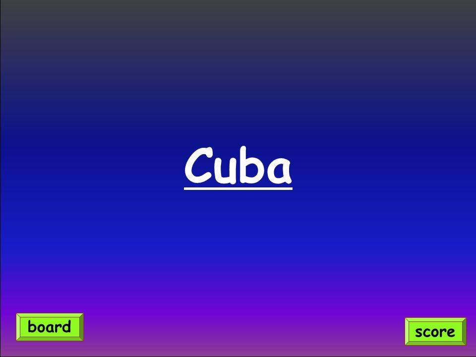 Cuba score board