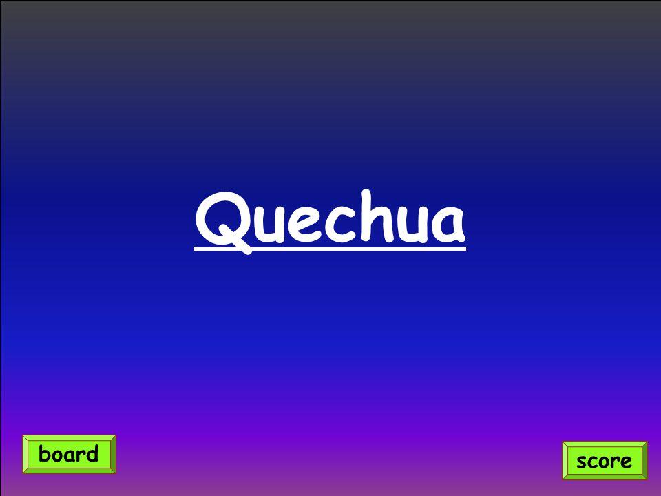 Quechua score board