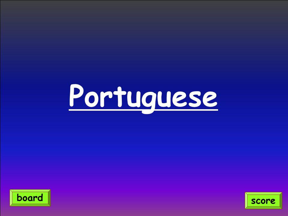 Portuguese score board