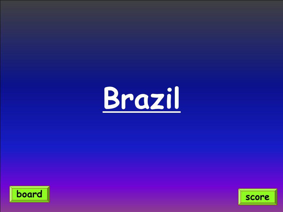 Brazil score board