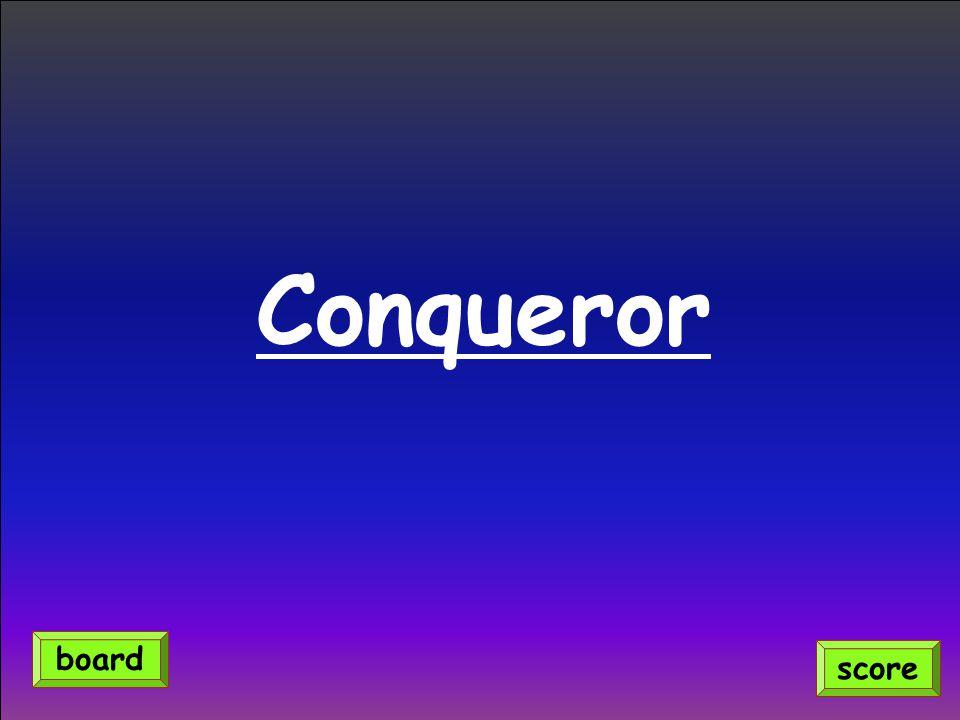 Conqueror score board