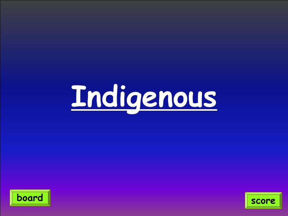 Indigenous score board