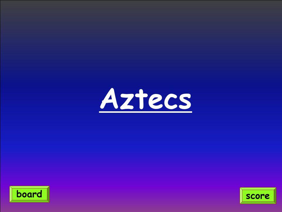 Aztecs score board