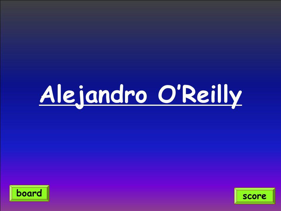 Alejandro O'Reilly score board