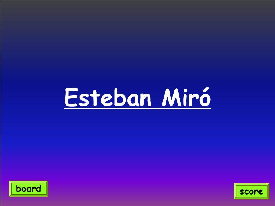 Esteban Miró score board