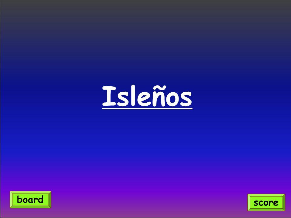 Isleños score board
