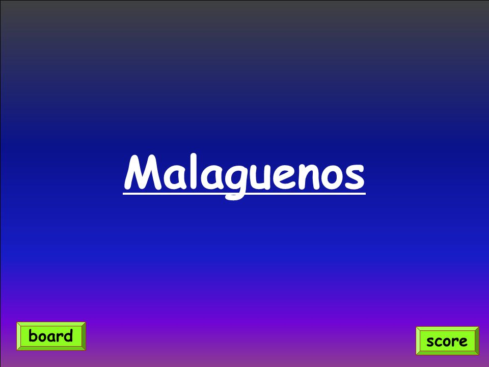 Malaguenos score board