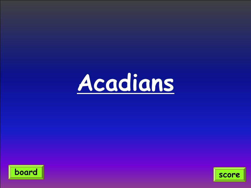 Acadians score board