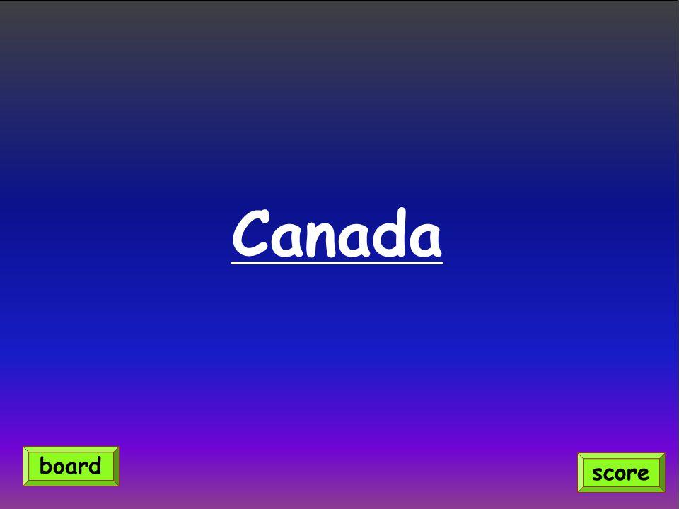 Canada score board