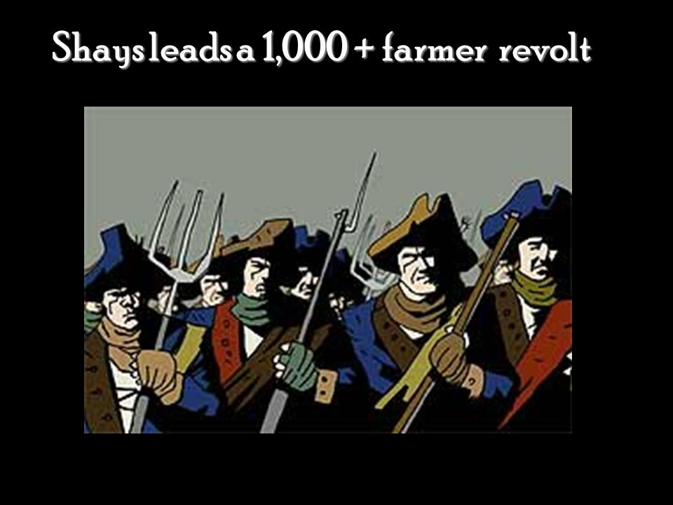 Shays leads a 1,000 + farmer revolt
