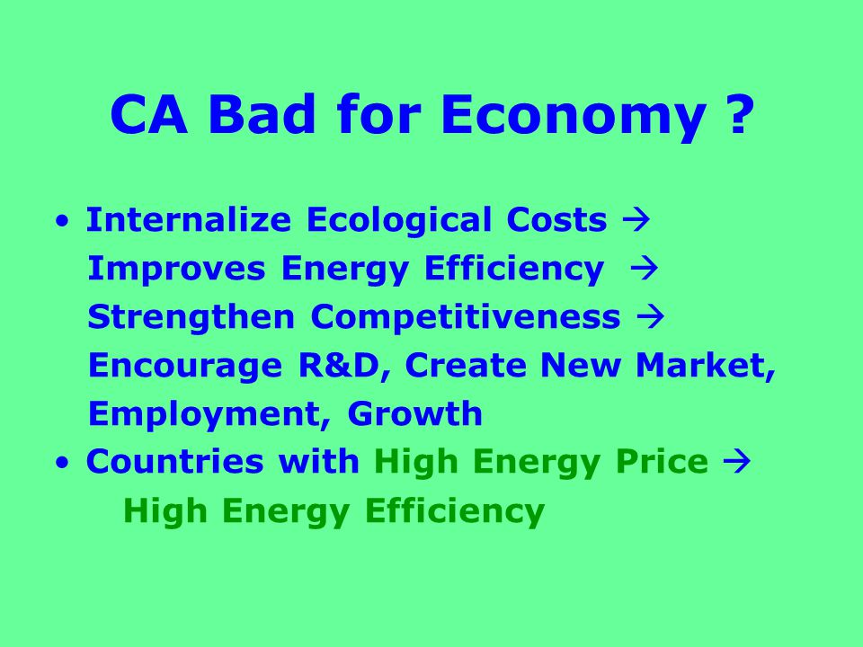 Current Paradigm: MCE Market Cost Efficiency: market price Market Price < Ecological Price Market Cost Efficiency (MCE) < Ecological Cost Efficiency (ECE) Gap between MCE & ECE has to be closed