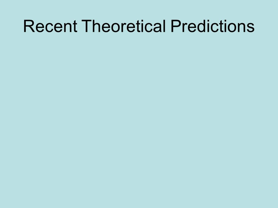 Recent Theoretical Predictions