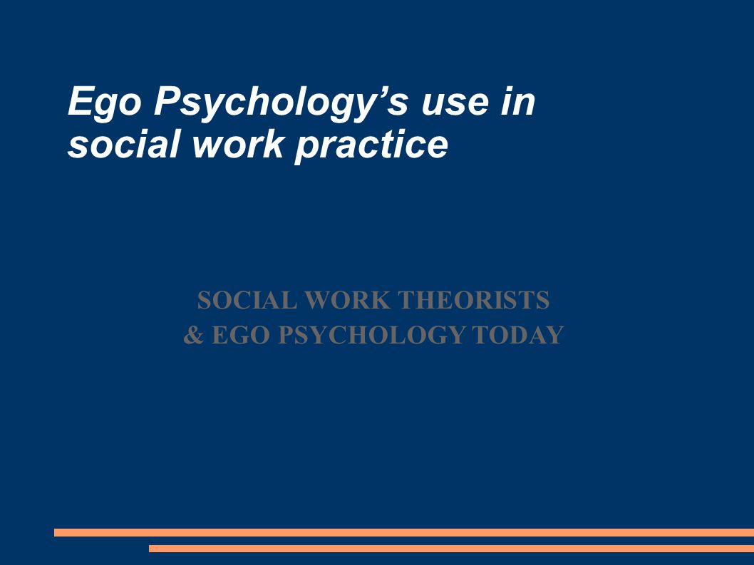 Social Work's long history with ego psychology Ego psychology was very influential in early social work  Mary Richmond (1867-1928), wrote Social Diagnosis (1917) Backlash emerged in 1960-1970s due to civil rights movements, war on poverty Founding of Clinical Social Work Journal (1972) & Federation of Societies for Clinical Social Work (1971) re-emphasized social work's psychodynamic roots