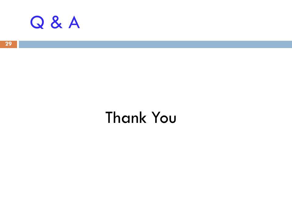 Q & A Thank You 29