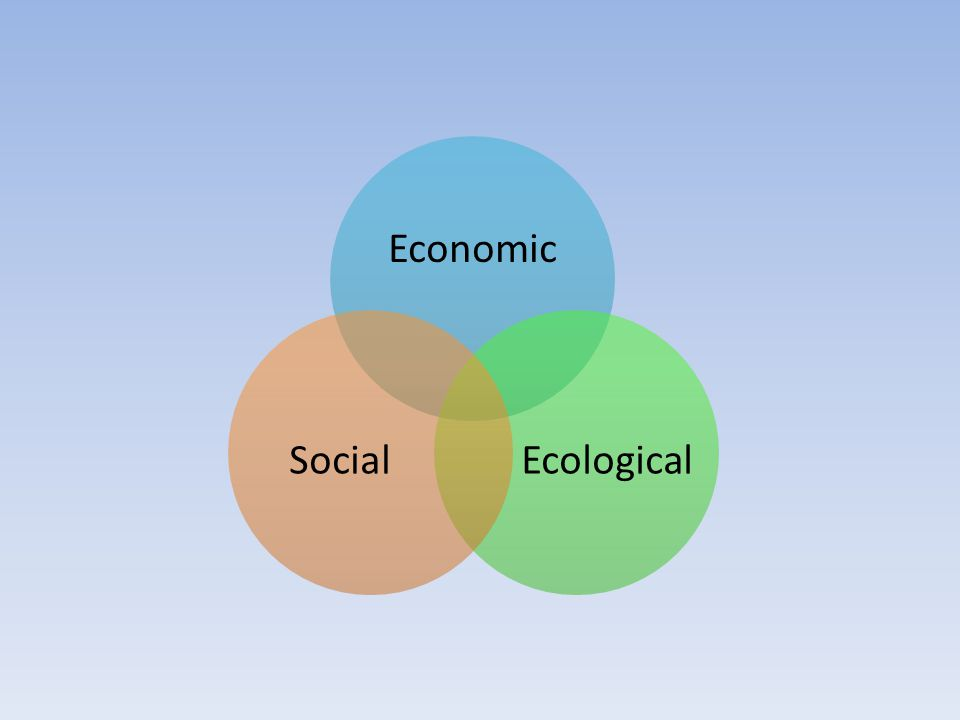 Economic EcologicalSocial
