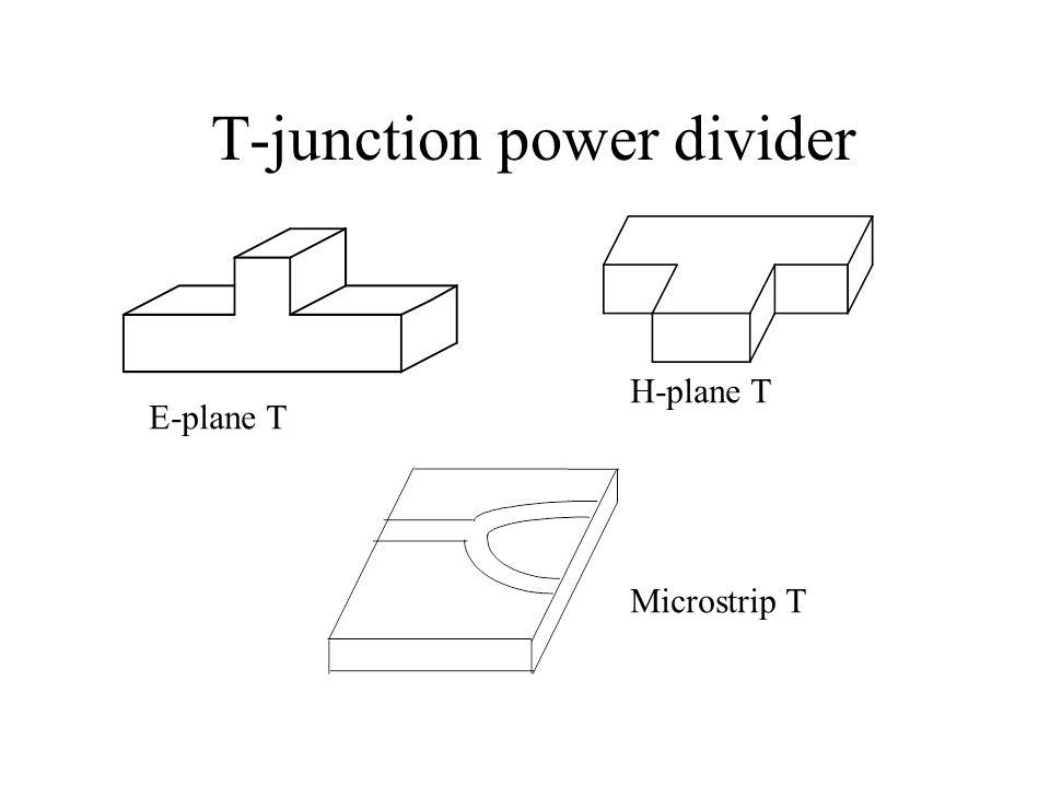 T-junction power divider E-plane T H-plane T Microstrip T
