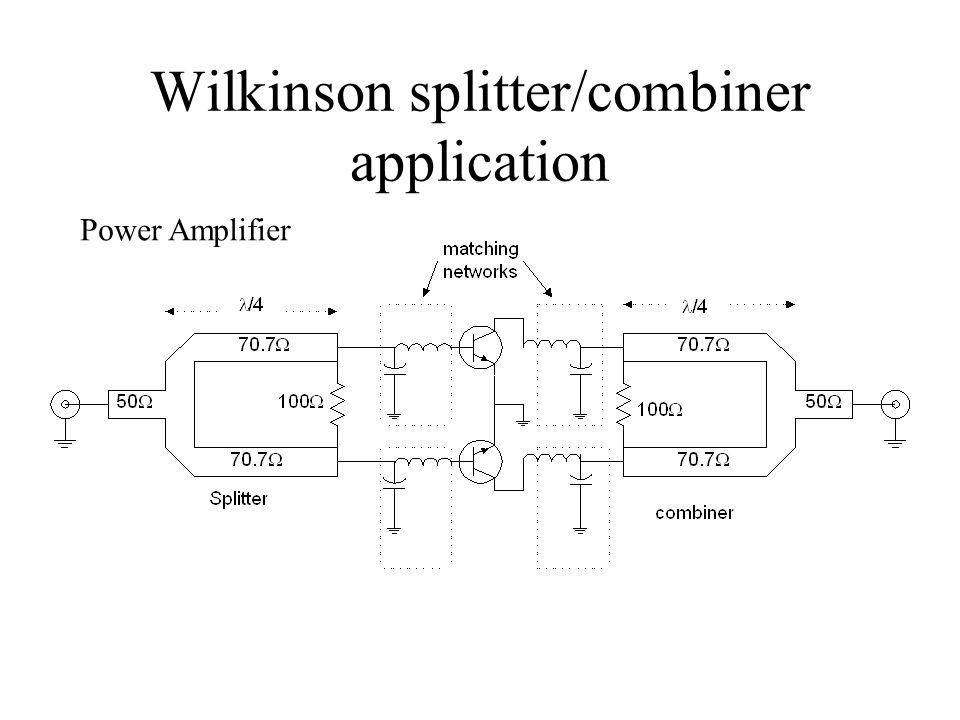 Wilkinson splitter/combiner application Power Amplifier