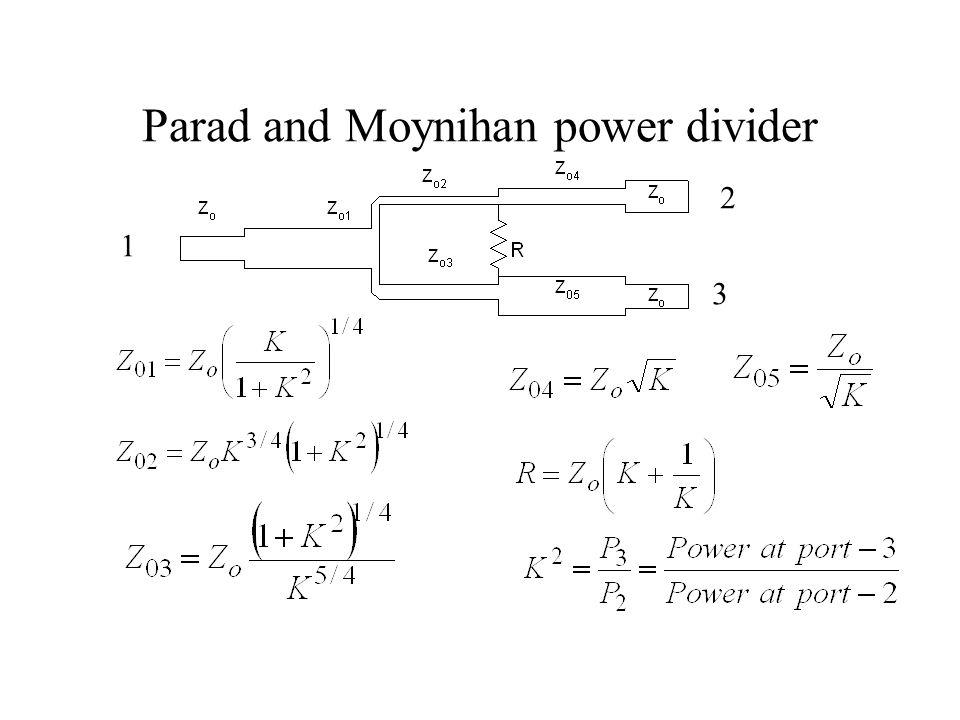 Parad and Moynihan power divider 1 2 3