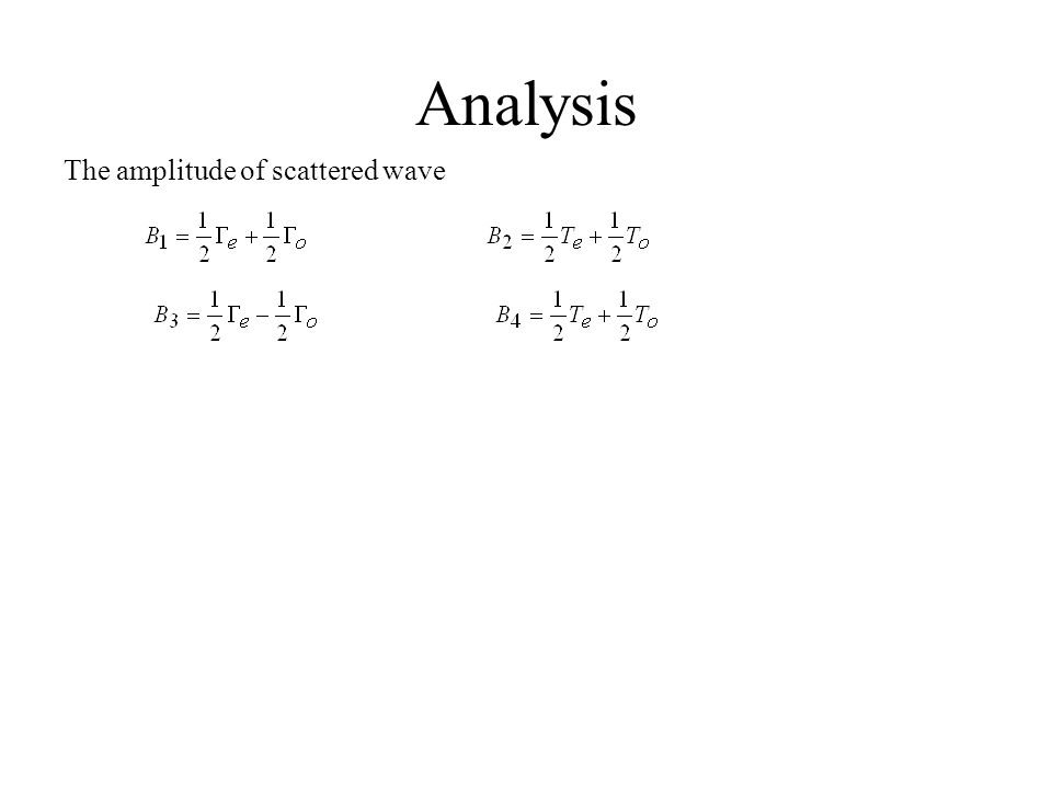 Analysis The amplitude of scattered wave