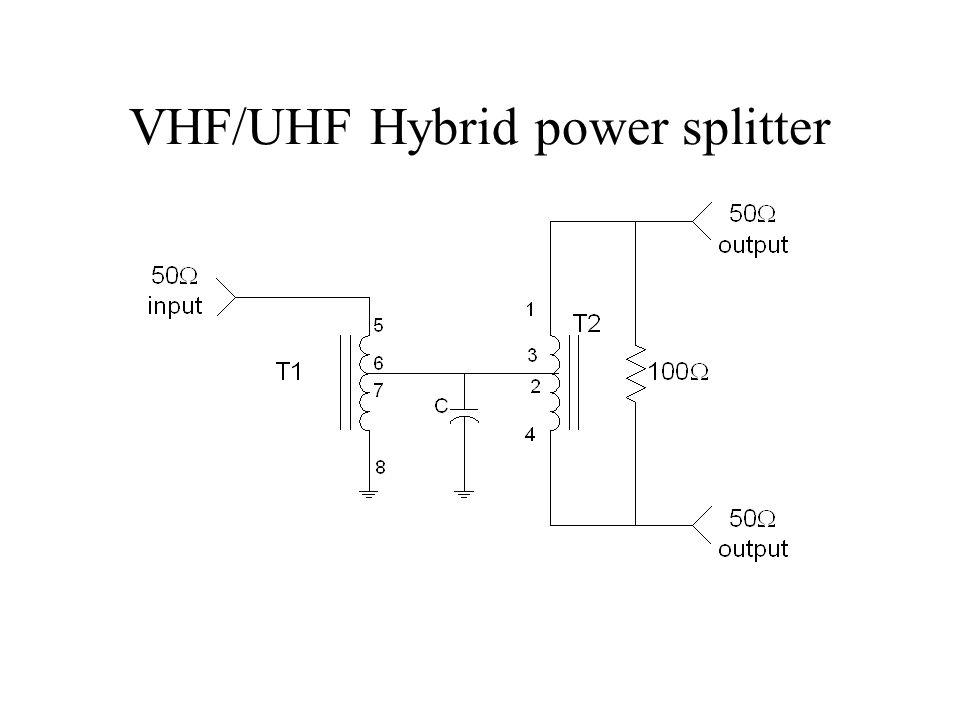 VHF/UHF Hybrid power splitter