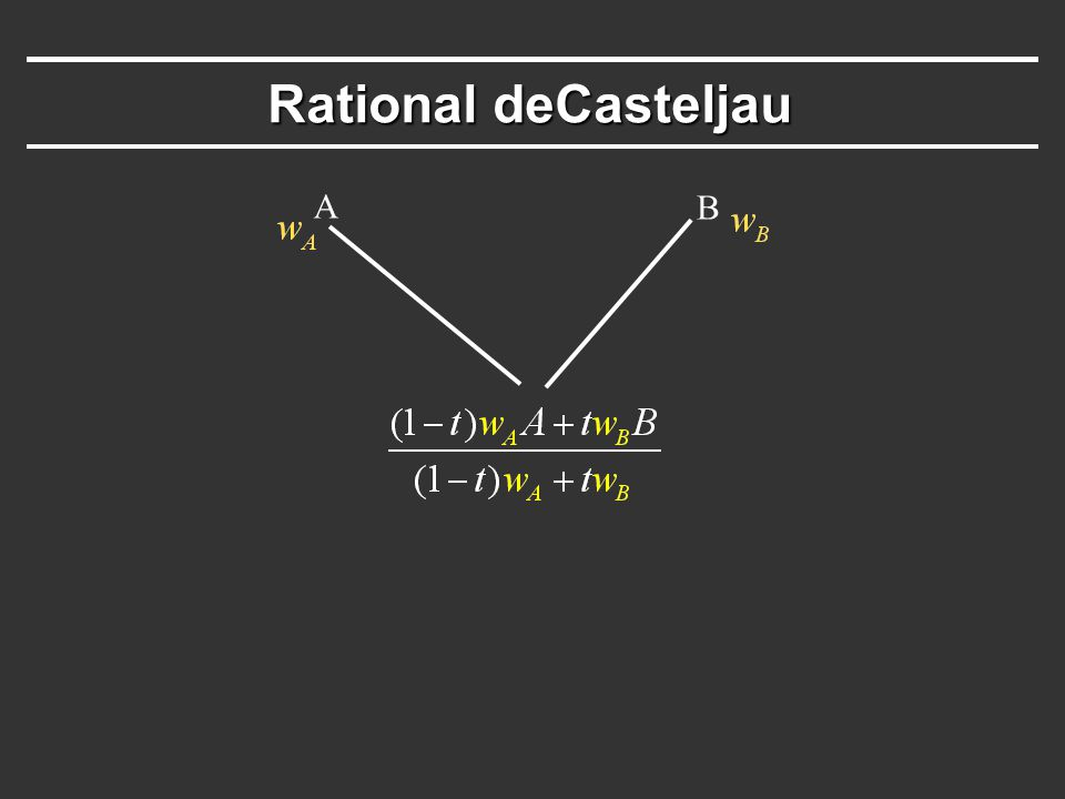 Rational deCasteljau A B