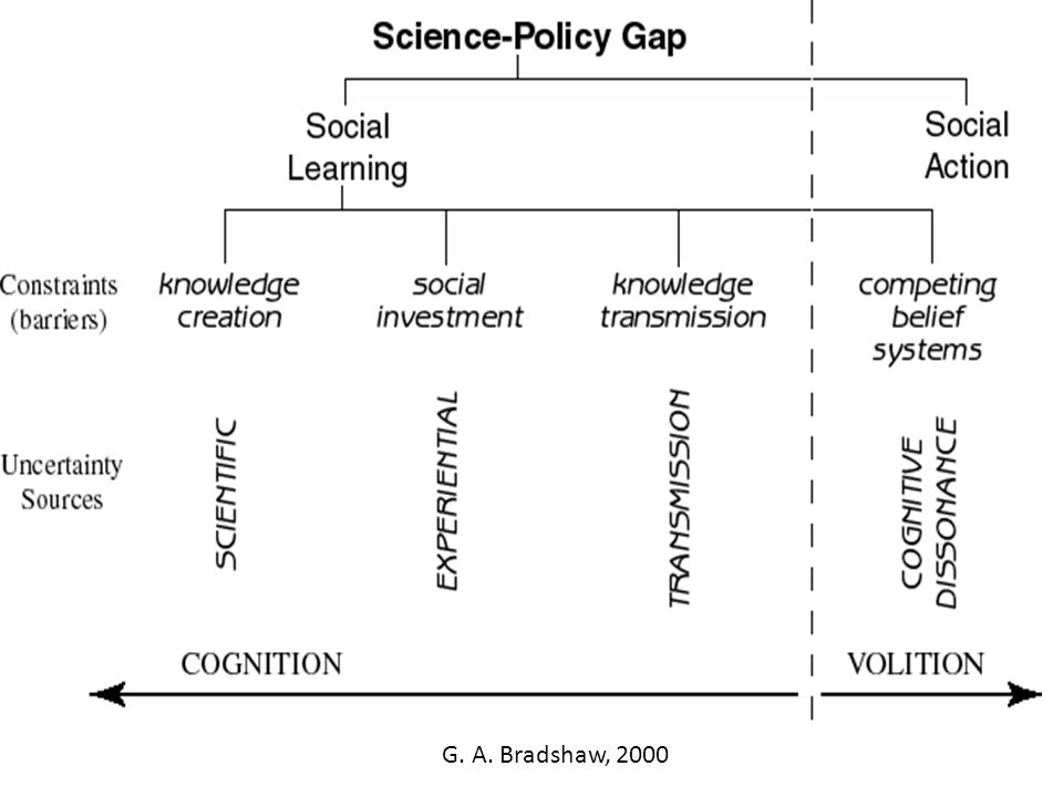 Bridge the gaps (Jacobs, 2002) (1) relevant to answering the specific policy question(s), (2) readily accessible and understandable by decision makers, (3) acceptable in terms of accuracy and trustworthiness, (4) compatible and usable in the specific decision making context, and (5) provided in a timely fashion